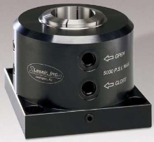 Hydraulic Collet Closer features 2.25 in. capacity.