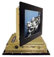 Flat Panel Monitors withstand harsh military environments.