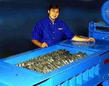 Counter-Rotating Shredder helps reduce bulk waste.