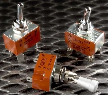 Toggle Switches are available in low and medium capacity.