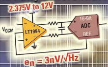 Differential Amplifier uses single power supply.