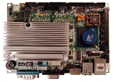 Embedded SBC utilizes low-power Pentium M processor.