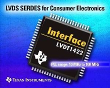 LVDS Transceiver targets consumer electronics products.