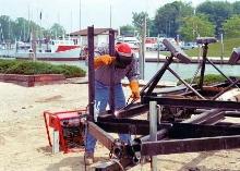 Generator/Welder uses 3/32 and 1/8 in. diameter electrodes.