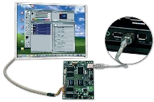 USB Controller drives TFT LCDs without graphics card.