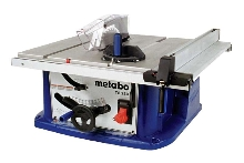 Table Saw features table extension and storage.