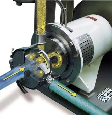 Mixer provides in-line powder injection.