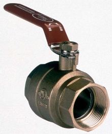 Brass Ball Valve has hand lever design.