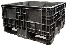Reusable HDPE Container measures 32 x 30 x 18 in.