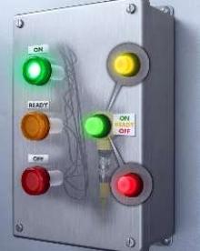 Indicator Lights provide multiple status colors.