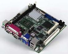 Mini-ITX CPU Module supports Pentium/Celeron M processors.