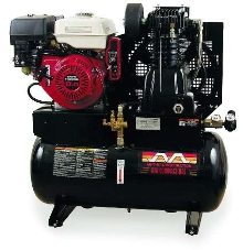 Stationary Air Compressors feature 20 gallon capacity.