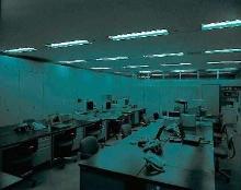 Terrorist-Proof Lighting illuminates areas with no power.