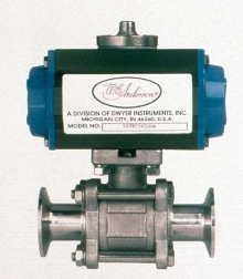 Ball Valves feature tri-clamp ends for line removal.