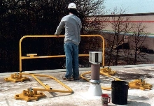 Guardrail provides collapsible, non-penetrating solution.