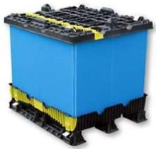 Self Contained Pallet has foot-activated locking design.