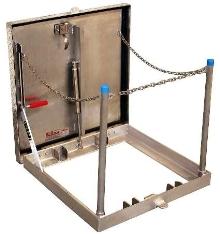 Door provides access to underground equipment.
