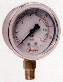 Steel Pressure Gage has 2.5 in. face.