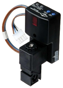 Optical Sensor/Solenoid Valve aids in conveyor automation.