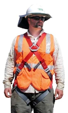 Harness meets needs of utility and maintenance workers.
