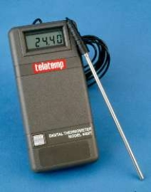 Probe Thermometer includes NIST-traceable certificate.