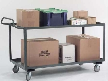 Utility Carts transport packages and small parts.