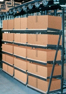 Horizontal Carousels are offered with cantilever shelving.