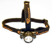 LED Headlamp weighs 2.75 oz with batteries.