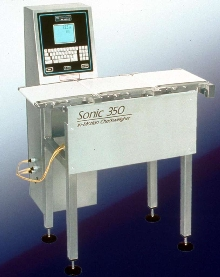 In-Motion Checkweigher includes metal detector.