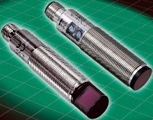 Photoelectric Sensors have straight or right-angle optics.