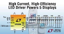 Multi-display LED Driver provides 95% efficiency.