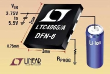 Li-Ion Battery Chargers are housed in 2 x 2 mm DFN package.
