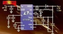 DC/DC Converter features 140°C max junction temperature.