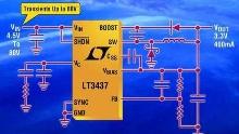 DC/DC Converter consumes 100 µA quiescent current.