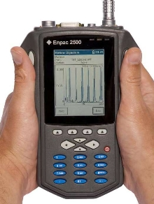 Portable Data Collector also acts as signal analyzer.