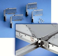 Seismic Fixture Clamps secure luminaires to T-bar.