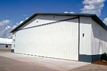 Hydraulic Door fits large exterior openings.