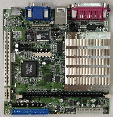 Mini-ITX Embedded Board has touch screen controller.