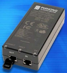 Single-Port Injector for PoE works with Gigabit systems.
