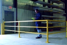 Handrail System defines work areas and protects employees.