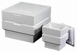 Insulated Containers feature nestable design.