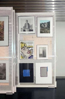 Panel System stores framed art and other hanging items.