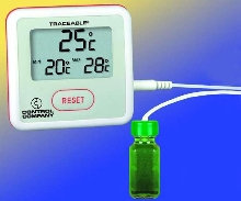 Thermometer is traceable to NIST standards.