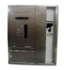 Shower/Eyewash features barrier-free, recess-mounted design.