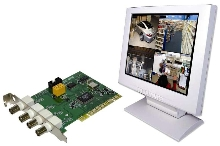 PCI Card turns PC into surveillance monitoring system.
