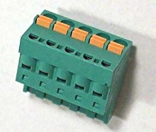 Terminal Blocks feature spring loaded connections.