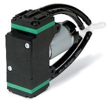 Miniature Diaphragm Pump has twin-head design.