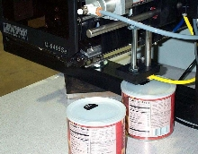 Label Printer Applicator features dual application tamp.
