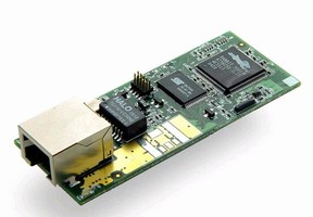 Core Module includes 22.1 MHz Rabbit 3000® microprocessor.