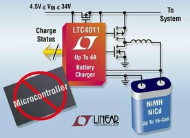 Battery Charger IC does not require microcontroller.